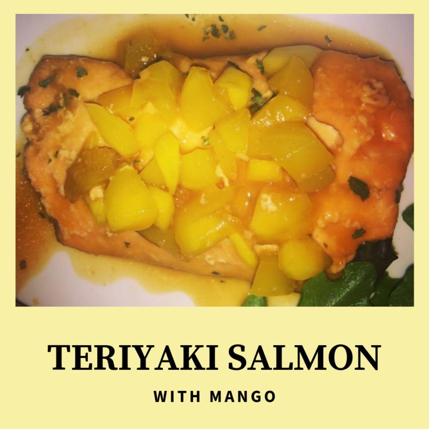TERIYAKI SALMON WITH MANGO