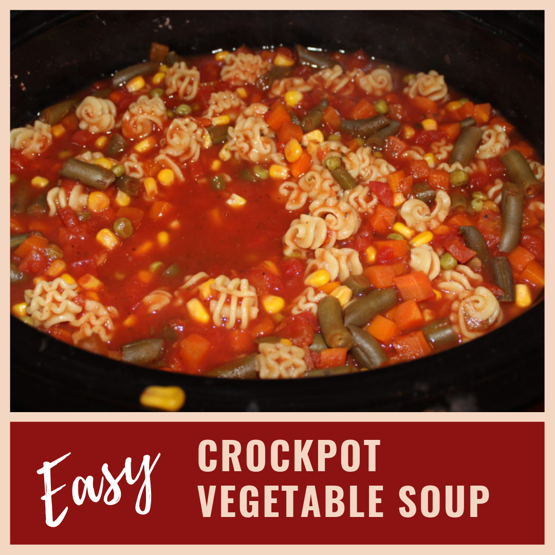 EASY CROCKPOT VEGETABLE SOUP
