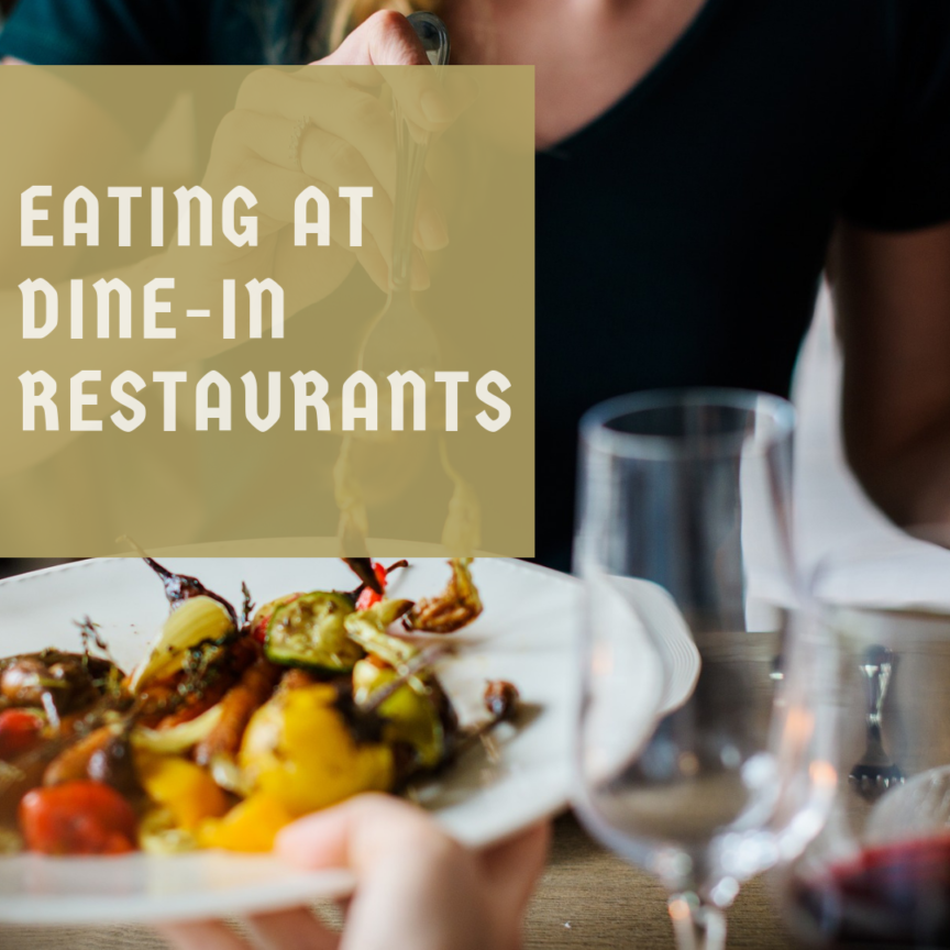 EATING AT DINE-IN RESTAURANTS