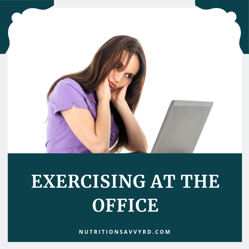 exercising at the office