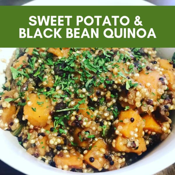 sweet potato & black bean quinoa