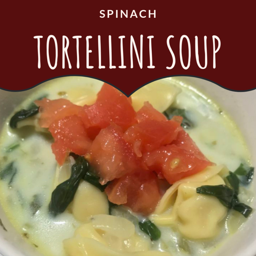 spinach tortellini soup