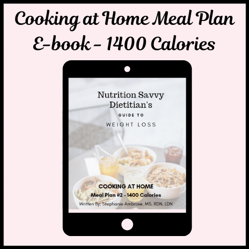Cooking at home meal plan ebook - 1400 calories